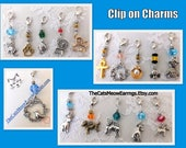 Clip on Charms, Cat, Dog, Bird, Pearl, Chihuahua, Bee, Dress, Scottie, Paw Print, Ankh, Bull dog, Zipper Pulls, Backpack Charms