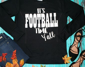 It's Football Time Y'all Black Sweatshirt