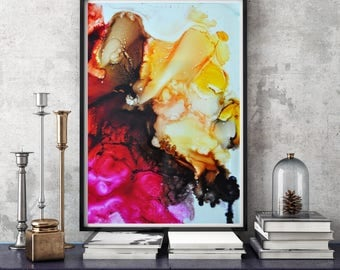 Home Prints, Living Room decor, Abstract Painting, Modern Art, Giclee Print, Wall Art