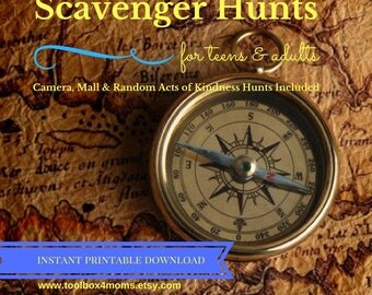 Scavenger Hunts for Teens, Tweens and Adults, Mall Scavenger Hunt, Random Acts of Kindness, Camera Scavenger Hunt, Birthday Party Ideas