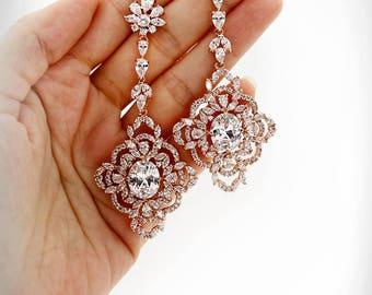 Wedding Earrings Zirconia Earrings Rhinestone Earrings Bridal Earrings Bridal Jewelry Wedding Accessory Bridesmaid Earrings Yen