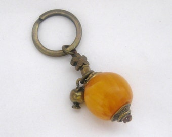 retro keychain-bronze keychain-pomegranate keychain-trendy keychain-modern keychain-charm keychain-handmade-
