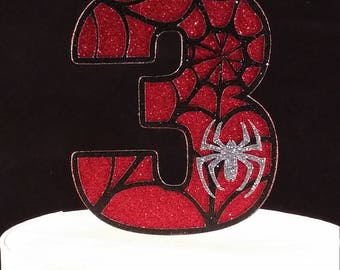 Spider-Man 3 / 3rd Birthday Cake Topper - Spiderman / Super Hero / Party Supplies and Decorations