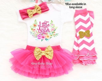 Little Sister Outfit, Little Sister Bodysuit, Little Sister Big Sister Outfits, Little Sister Coming Home Outfit, Little Sister Gift LS2HP