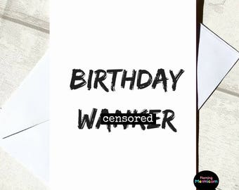 Awesome Rude Birthday Card | Funny Birthday Card, Adult Birthday Card, Cards For  Him, Pictures