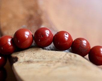 Red Earth Jasper Beads
