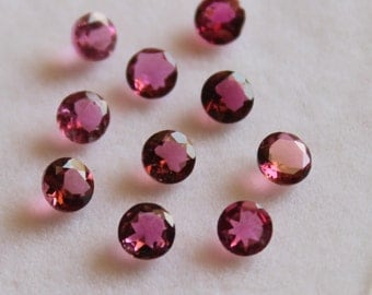 4 mm AAA Pink Tourmaline Round  Faceted - Top Grade Gemstone AAA Quality