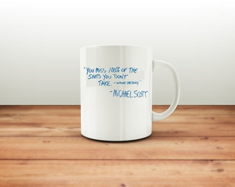 The Office Tv Show - The Office Mug - Wayne Gretzky - Michael Scott Quote Mug - Funny - Mug - The Office - Schrute Farms - Best Selling Mug