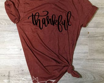 Thanksgiving Shirt, Thankful Shirt, Grateful, Blessed, Fall Shirt for Women, Thanksgiving Shirt, Fall Tshirt, Fall Shirt, UNISEX Graphic Tee