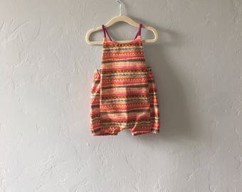 Boho Striped Baby Romper // Girls Romper // Spring Baby Clothes // Birthday Outfit // Toddler Romper // Halter Romper  // Bubble Romper