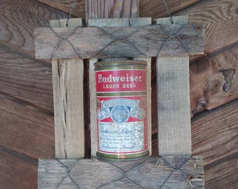 Flat Top Vintage Budweiser Can Display