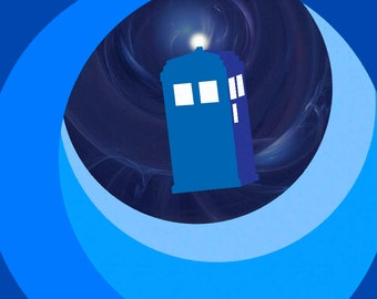 Into The Wormhole - Doctor Who Minimalist Poster