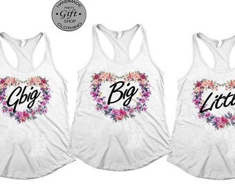 Big little shirts, big little sorority, Big Little tank tops, Little Big, reveal shirt, gbig, Big Little Shirts, Sorority Shirts, greek