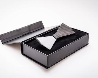 Carbon Fiber Bow Tie (Model No: 1006) (premium glossy black finish)