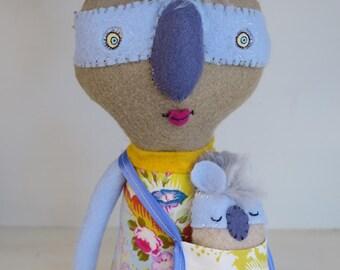 Clara and her Baby handmade doll