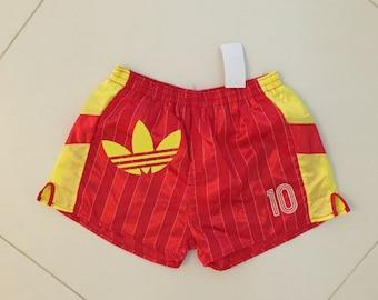 adidas Shorts Tennis Football shorts Running Big Logo Yellow men - Size XL