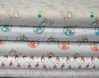 Beatrix Potter Peter Rabbit & Family Bunny/Rabbit Licensed Cotton Fabrics