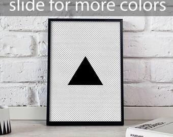 Absract Geomemetric Triangle art, Triangle poster, Absract Geomemetric poster, Housewarming art, Absract Geomemetric wall decor, Gift poster