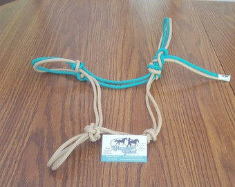 tan and teal rope halter size horse
