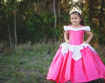 Sleeping Beauty Dress / Inspired Disney Princess Dress Aurora  Costume / Ball gown style for toddler, child, girls, baby