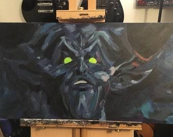 Darkness Acrylic Painting