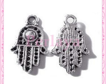 Set of 15 charms REF147X3 silver hands