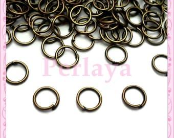 Lot de 500 anneaux bronze 6mm REF1488X5