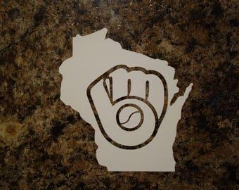 Milwaukee Brewers Wisconsin Vinyl Decal