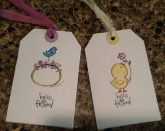 Hello Friend Gift Hang Tags Set of 2
