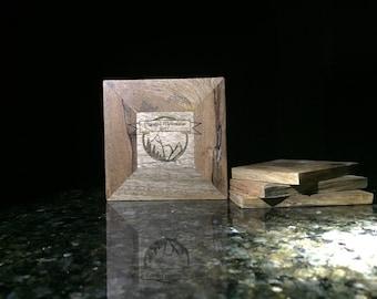 Personalized Wood Coaster Set