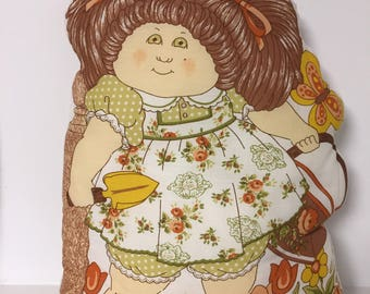 Cabbage Patch Doll / Vintage Cut and Sew Cushion / Large Cabbage Patch 2 sided Pillow / 1980's Doll / 80's Pillow