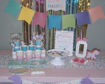 Ultimate Party in a Box! Birthday Party Decorating and Tableware Kit