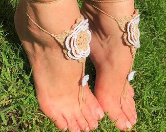 Crochet Barefoot Sandals