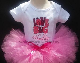 Personalized Lady Bug Tutu Set Girl