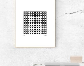 Abstract, Abstract Art, A4 or A3, Giclée Print, Contemporary Art, Black and white, Minimalist, Home décor, Wall decor, Prints