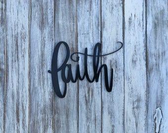 Faith metal sign, wall decor, metal art