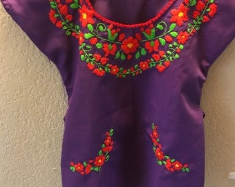 4T Mexican Blouse for Girls