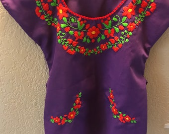 FREE SHIPPING! 4T Mexican Blouse for Girls