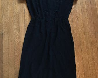 Vintage Black R&K Originals Woven Dress