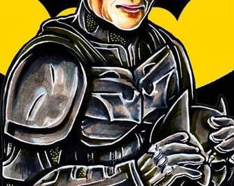 Adam West Batman Rising Comic Fan Art Superhero Print  11X17
