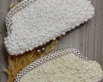 Vintage Clutch,Ivory - White Clutch Bag, Wedding Clutch. Wedding Accessories.