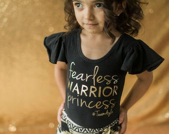Personalized Fearless Warrior Princess T-Shirt