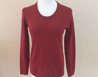 1970s Vintage Hooper U-Neck Thin Wool Sweater