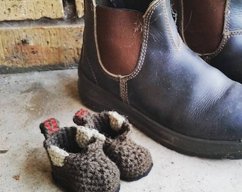 Made to Order Crocheted Work Boots/Blundstone Boots for Babies