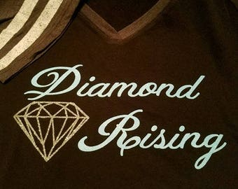 Diamond Rising Essential Oil T-shirt, Oily shirt, essential oils clothing, rank shirt, Young Living,