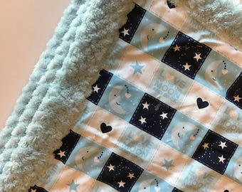 Love you to the Moon Cuddle Blanket