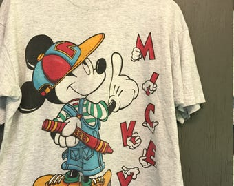 XL * vintage 90s Mickey Mouse t shirt