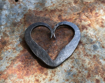 Hand forged steel heart!