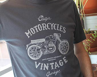 T-Shirt MOTOVINTAGE/Grey
