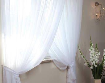 White Net Curtain
